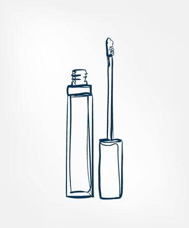 lip gloss line vector clip art isolated