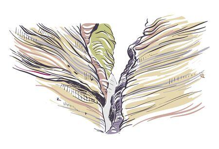 New Mexico rocks vector sketch illustration usa