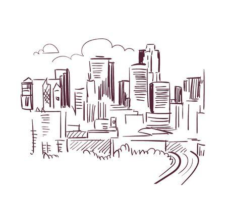 St Paul Minnesota usa America vector sketch city illustration