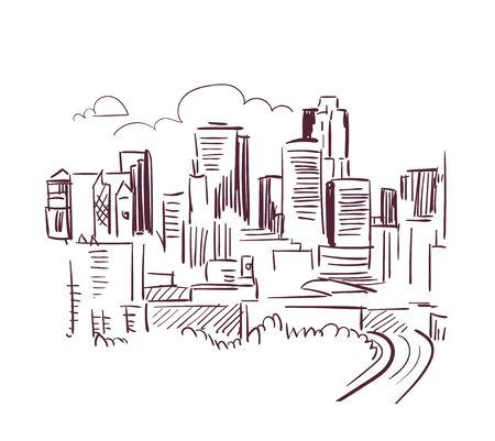 St Paul Minnesota usa America vector sketch city illustration