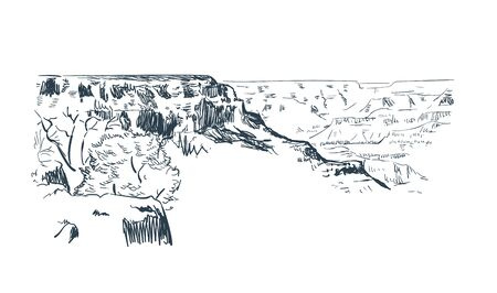 canyon Phoenix Arizona vector sketch line usa landscape
