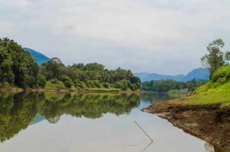 Kayaking in Kerala lake Stock Photo