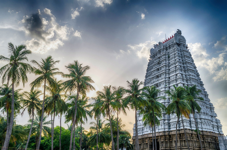 temple tower: Hindu Temple Tower Stock Photo