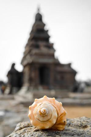 Seashore Temple is located in Mamallapuram. Reklamní fotografie