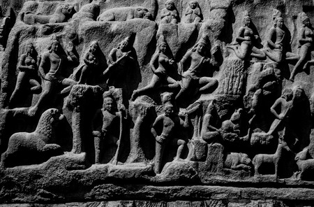 mamallapuram: Arjuna Penance is located in Mamallapuram.