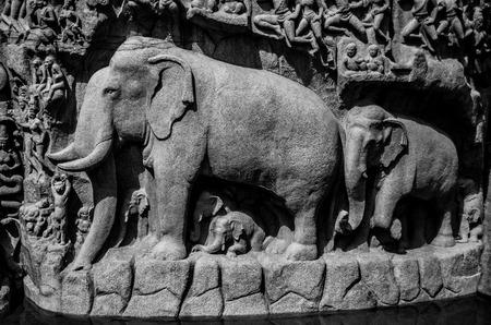 mamallapuram: Arjuna Penance is located in Mamallapuram.