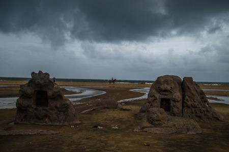 mamallapuram: The remains of ancient port city is located in Mamallapuram.