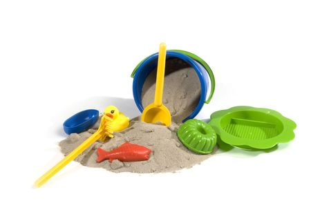 so: play-set with bucket and so on to play with sand