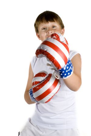fanaticism: Boy is kicking you with boxing gloves