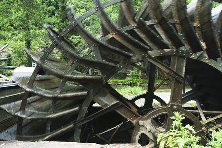 watermill: Working wheel from watermill to produce energy