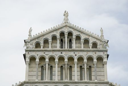 camposanto: Pisa, detail on top of the duomo at the square of the miracles