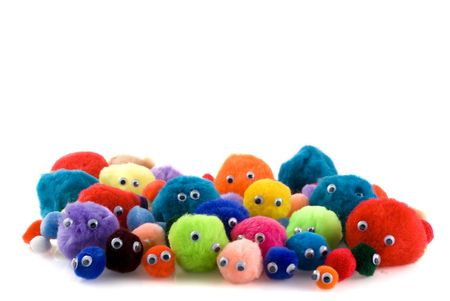 a big mass of colored  looking people Stock Photo - 1262213