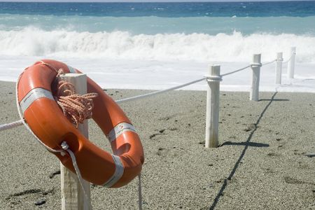 baywatch: life-buoy for safety on the beach