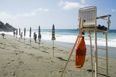 baywatch: rescue-outfit on the beach to safe people