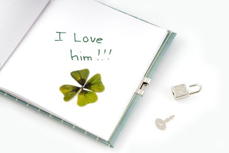 superstitions: The first and absolute love from a teenager Stock Photo