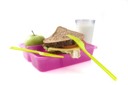 fibres: a good filled lunchbox for work or school