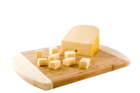 cubes of Dutch cheese for a party
