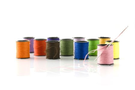 sewing with needle and thread Stock Photo - 1328792