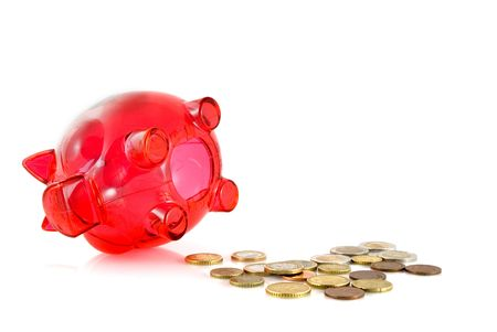 miserly: counting and saving small money saved in a pig