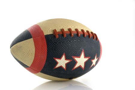 Rugby ball in several colors with stars photo