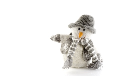 snowman with clothes
