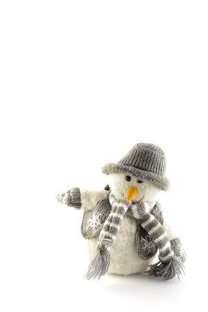 snowman in wintertime photo