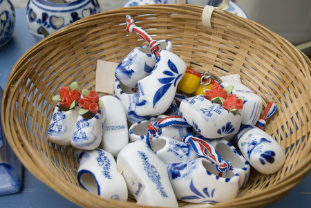 souvenirs in blue and white from Holland Stock Photo - 1536767