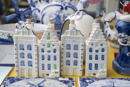 typical houses from Amsterdam in souvenirshop photo