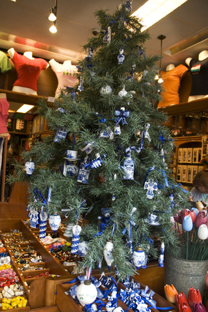Dutch christmas tree with souvenirs from Holland photo