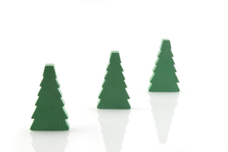 three simple christmastrees Stock Photo - 1558759