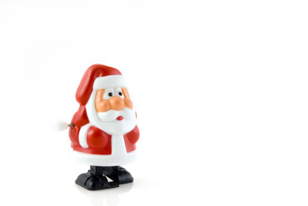 santa claus as a wind up toy