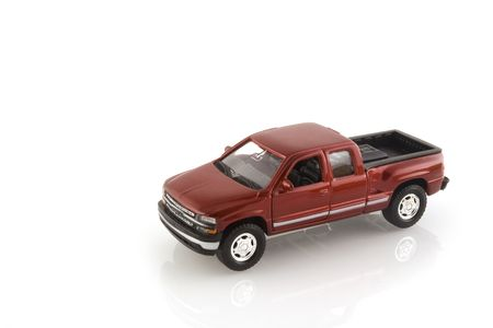red pick up truck for transport
