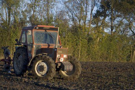 arable: tractor in arable field