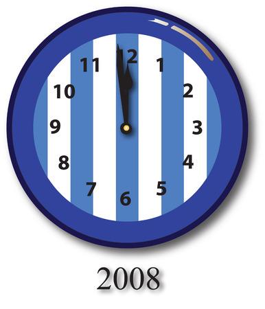 newyear: Reloj feliz a�o nuevo
