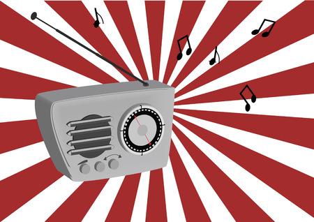 portable radio: Radio de la d�cada de los setenta Vectores
