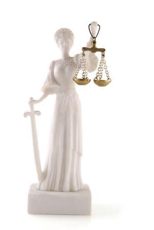 giurisprudenza: Diritti legali per ogni isolato su bianco  Archivio Fotografico