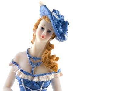 self-satisfied lady as a doll