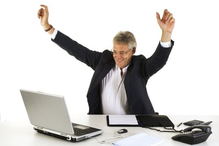 Happy CEO by good results from the company Stock Photo - 2187595