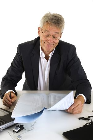 good results for the company on the paper Stock Photo - 2187600