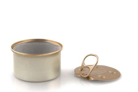 catfood: lattina vuota senza etichetta di riempire con la vostra roba