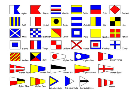 shipping international signal flags Vector