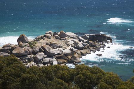inhospitable: wild coast at South Africa Stock Photo