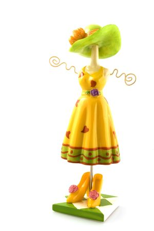 Summertime dress with hat and shoes Standard-Bild