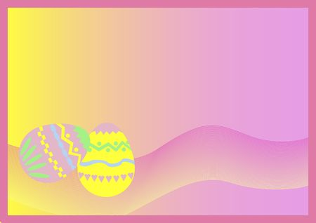 twirls: background easter eggs and twirls