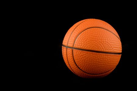 attribute: orange basketball as a sporting attribute Stock Photo