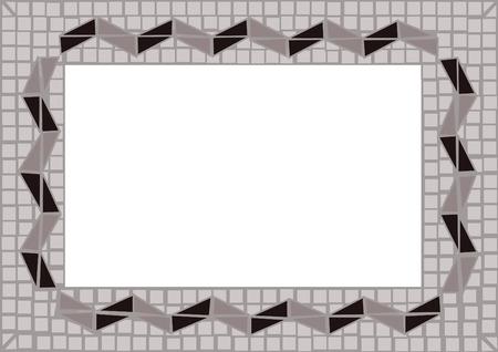 marqueteria: mosaico de color gris y negro