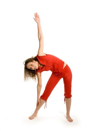 Girl is stretching in the studio Stock Photo - 2475727