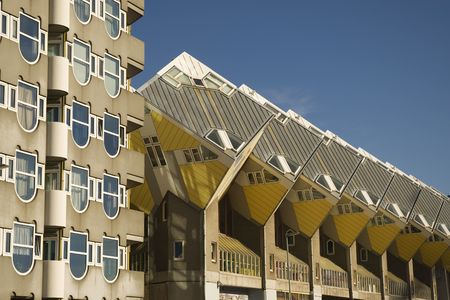 the experimental: experimental yellow Cube houses