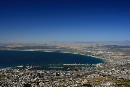 capetown: capetown South Africa at the coastline