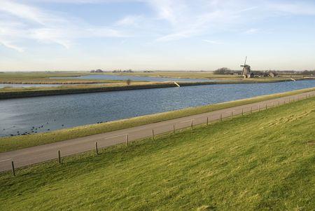 Dutch landscape with windmill Stock Photo - 2614088